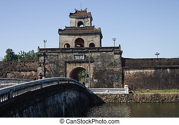 Gate of the citadel Hue, Vietnam