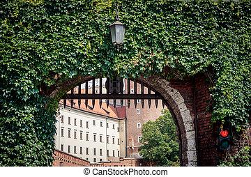 Wawel Royal Castle in Krakow, Poland - Gate of Wawel Royal...