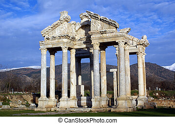 Gate - Old ancient gate in Aphrodisias, Turkey