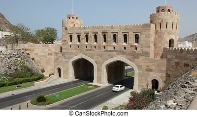Gate to Muscat, Oman - Fortified Gate to the old town of...