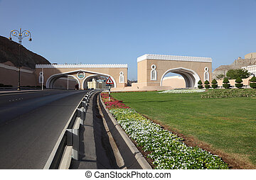 Gate to the town of Muttrah, Muscat, Sultanate of Oman