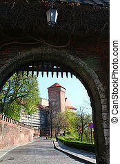 Gate to the Wawel Castle. Krakow. Poland. Medieval history memorial