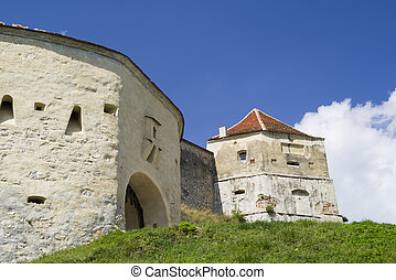 Gate tower of medieval fortress