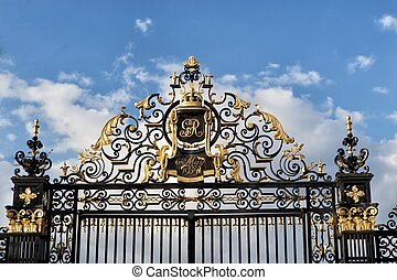 Gate with royal ornaments