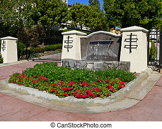 Gated Community Entrance - An upscale gated community\\\'s...