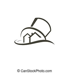 Gated development abstract sign - family estate sign ...
