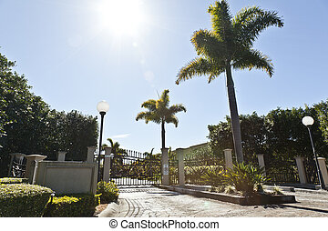 Entrance to luxury gated estate