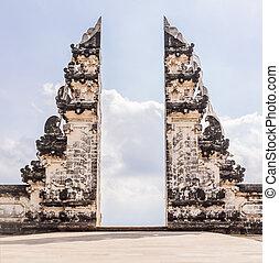 gates in Pura Luhur Lempuyang temple Bali Indonesia.