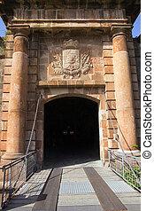 gates Montjuic castle