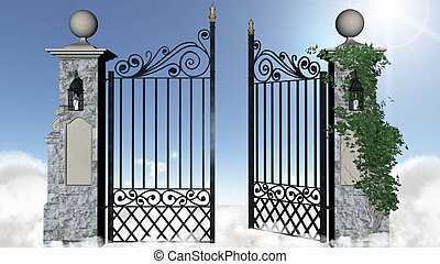 Gates of heaven. Illustration of the gates of heaven.