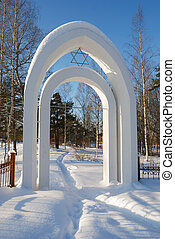 gates of the Jewish cemetery