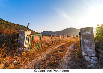 gates on the field a farm