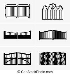 Gates - Set of six gates