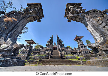 Gates to Pura Besakih Balinese temple - Gates to Pura...