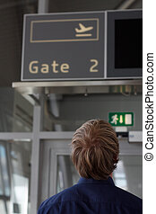 A gateway in an airport