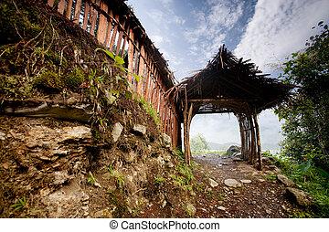 Gateway - A picturesque gateway on a mountain trail