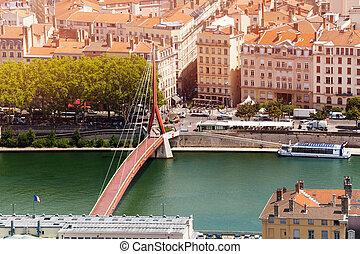 Gateway Courthouse footbridge in Lyon, France
