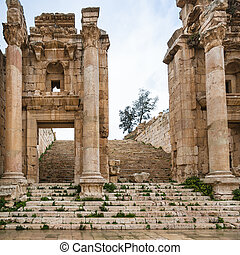 Gateway to Artemis temple in Jerash (Gerasa) town