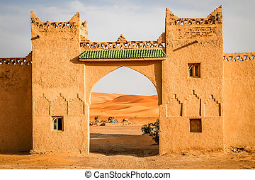 Gateway to the Dunes - Gateway to the impressive sand dunes...