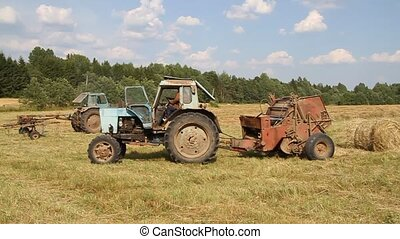 Gathering hay 3.