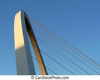 Gatheshead Millenium bridge arch in Newcastle England