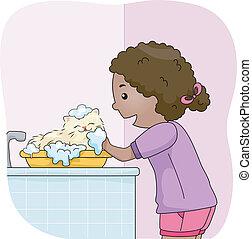 gato, banho