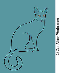 gato, bosquejo