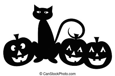gato, dia das bruxas