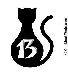 gato, e, pretas