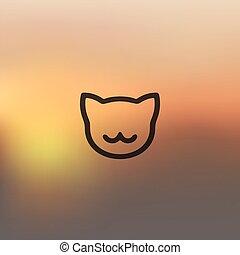 gato, fundo borrado, ícone
