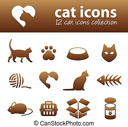 gato, iconos