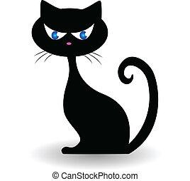 gato, logotipo, vetorial
