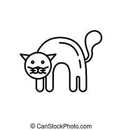 gato negro, silueta