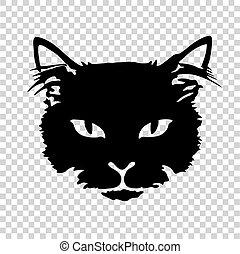gato preto, silueta, tatuagem
