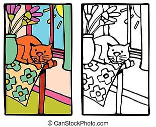 gato, tabla