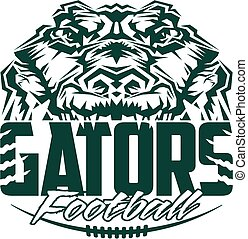 gator football team design with mascot and laces for school,...