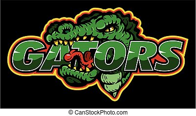 gators logo design - gators logo team design with mascot for...