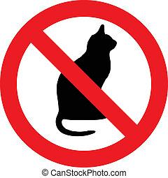 gatos, no, señal
