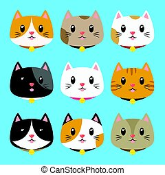 gatos, vetorial, cobrança