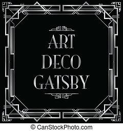gatsby, αριστοτεχνία deco , φόντο