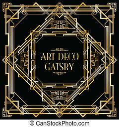 gatsby art deco background