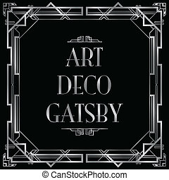 gatsby, art deco, hintergrund