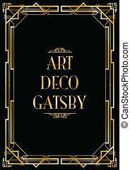 gatsby, deco arte, fondo