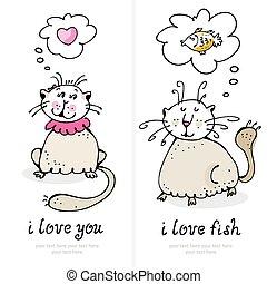 gatti, amore, scheda