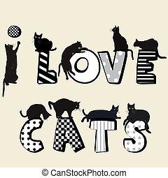 gatti, amore