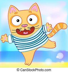 gatto, marinaio