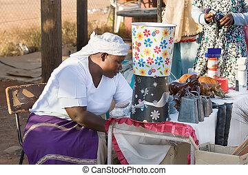 gatuförsäljare, afrikansk