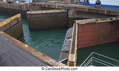 Gatun Locks in Panama - Gatun Locks, part of Panama Canal.