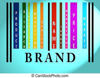 gatunek, barcode, słowo, barwny