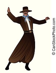 Gaucho with hat dancing typical dance of South America, ...
